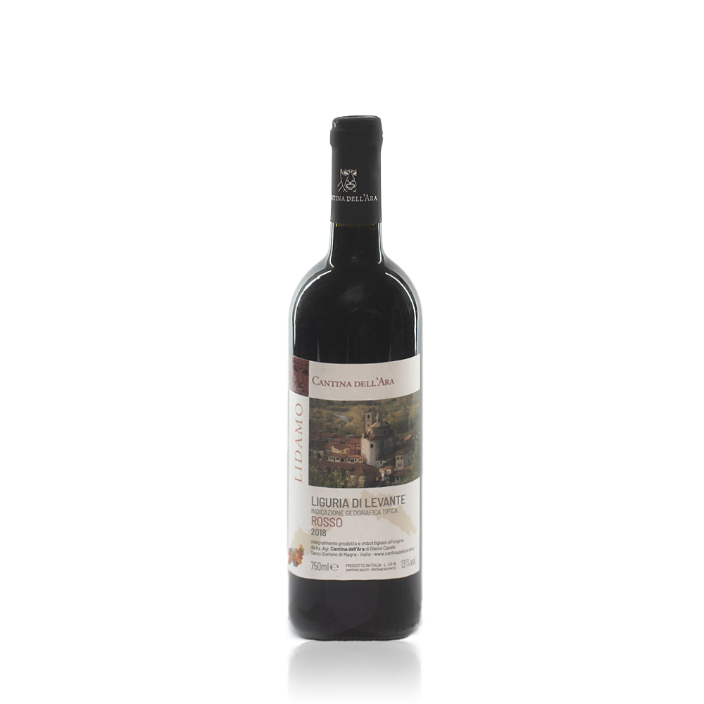 Bottiglia di Lidamo Rosso dell'azienda agricola Cantina dell'Ara