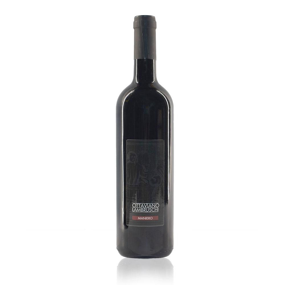 Maniero è il vino rosso di Ottaviano Lambruschi ottenuto da uve sangiovese merlot e cananolo