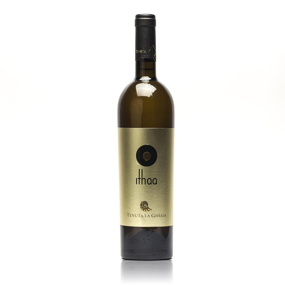 Bottiglia di Ithaa vermentino macerato di Tenuta La Ghiaia